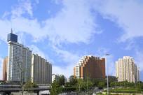 北京西站莲花桥地区风光