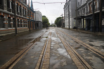 空旷老街图