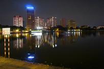 河内城市风光及讲武湖夜景