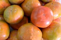 一堆柿子特写
