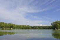北京龙潭西湖公园湖面水景