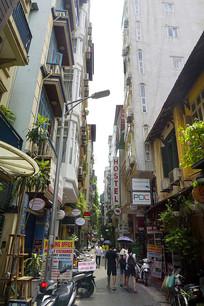 越南河内的一条餐饮休闲街