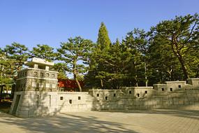 韩国水原市孝园公园仿古城大门