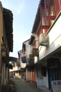 江苏吴江市同里古镇的街道