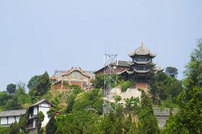 四川成都市洛带镇的金龙寺