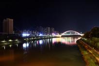 信丰桃江河夜景