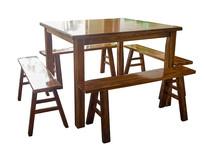 中式餐桌抠图白底白背景摄影图