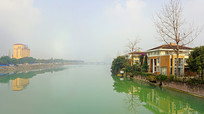 成都崇州市城市河流文井江