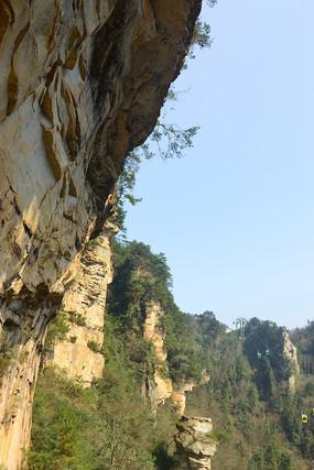 武陵源杨家界的高山绝壁风光