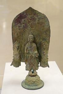 南朝一佛二菩萨铜像