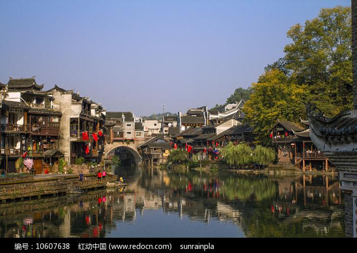 凤凰古城虹桥一角图片