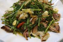 荔波特色美食蕨菜炒腊肉