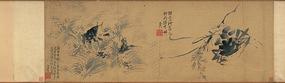 明代徐渭蟹鱼图