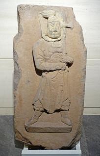 南宋浮雕武士石刻