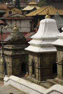 尼泊尔佛塔建筑