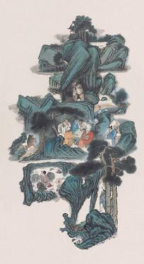 清代绘画八仙图
