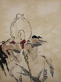 徐悲鸿白鹅国画