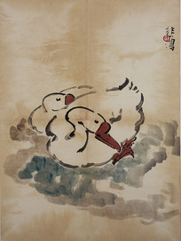 徐悲鸿鹅国画