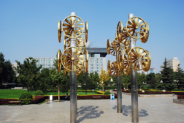 北京建国门的风车景观