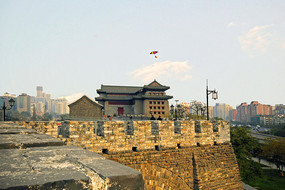 北京明城墙遗址东南角楼