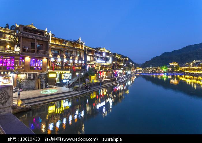 凤凰古城之夜图片