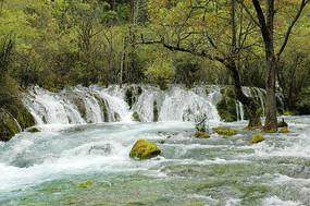 九寨沟盆景滩溪流瀑布