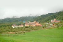 四川成都西岭雪山度假区俯拍