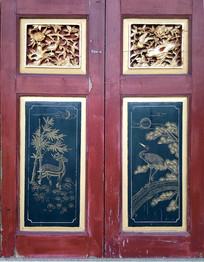 中式风格描金彩绘门窗
