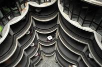 宾馆建筑俯瞰横构图