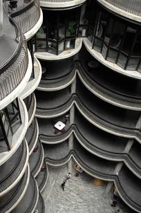 宾馆建筑俯瞰竖构图
