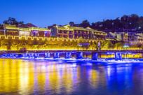 凤凰古城北门木桥之夜