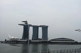 新加坡滨海湾金沙酒店全景