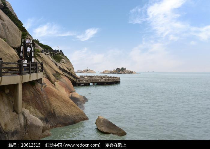 沿海栈道图片