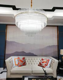 客厅装修家装设计-时尚水晶灯