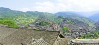 黔东南州西江千户苗寨村寨俯拍