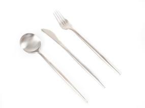 不锈钢金属餐具组合白底图