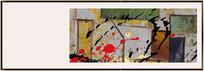 简约现代抽象艺术油画