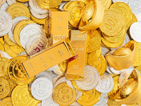 金币金元宝金条组合图