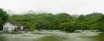 天星桥景区高老庄和天星湖全景
