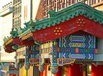 北京红桥市场的仿古建筑中式垂花门