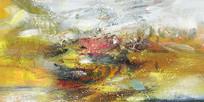 抽象油画壁画