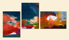 三联现代抽象画
