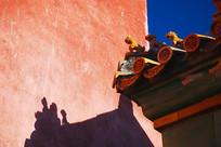 北京紫禁城的琉璃瓦顶脊兽