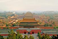 从景山俯拍北京故宫