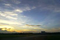 傍晚的浙江杭州萧山国际机场