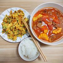 番茄玉米牛腩汤