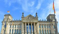 柏林德国国会大厦建筑外观全景