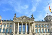 德国柏林市的国会大厦建筑