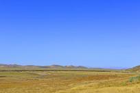 九曲黄河第一湾草原上的牧场