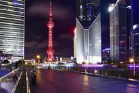 上海陆家嘴的东方明珠塔